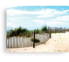 Sand Fence on Beach Gulfshores, Alabama Canvas Print