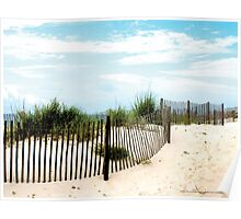 Sand Fence on Beach Gulfshores, Alabama Poster