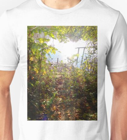 Abstract photo: nature, country path to the lake Unisex T-Shirt