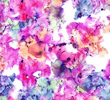 Trendy hand painted floral watercolor pattern by GirlyTrend