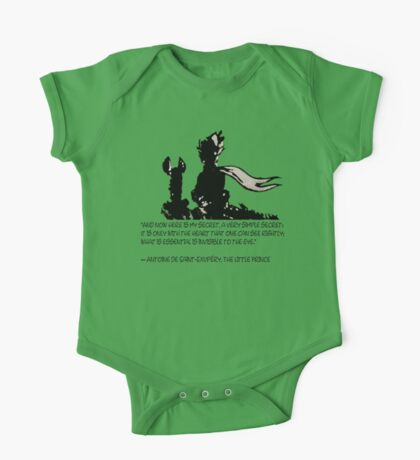 The little prince and the fox - QUOTE - sepia One Piece - Short Sleeve