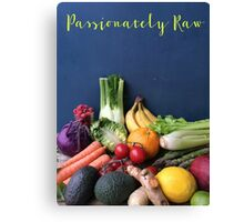 Passionately Raw Fruits And Vegetables Still Life Canvas Print
