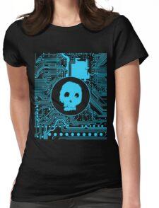 Blue Blurry Skull (Cybergoth) Womens Fitted T-Shirt