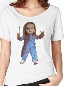 chucky, muñeca, diablos, mal, horror, Chukky, chuky, Women's Relaxed Fit T-Shirt