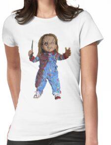 chucky, muñeca, diablos, mal, horror, Chukky, chuky, Womens Fitted T-Shirt