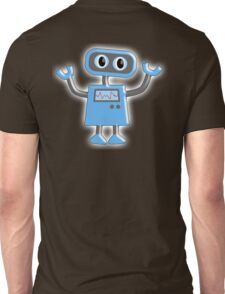 Robot, Toy, Blue, 1950s, Robotics, Fun, Cartoon Unisex T-Shirt