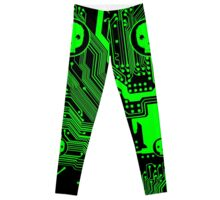 Green Blurry Skull (Cybergoth) Leggings