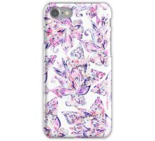 Purple pink watercolor gold glitter floral paisley iPhone Case/Skin