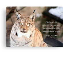 See and understand Canvas Print