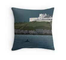 Dolphin in Cardigan Bay Throw Pillow