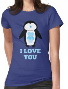 I love you penguin Womens Fitted T-Shirt