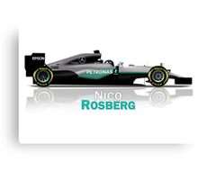 Nico Rosberg - Mercedes W07 2016 Canvas Print