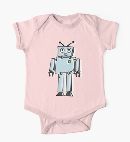 ROBOT, Line drawing, 1950s One Piece - Short Sleeve