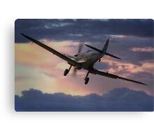 Spitfire Sunset Canvas Print