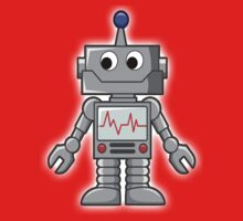 ROBOT, Cartoon, Smiley, Robotics Kids Tee