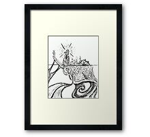 Somewhere in the Middle of The Ocean. Framed Print