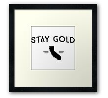 Stay Gold California Framed Print