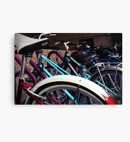 A group of bicycles Canvas Print