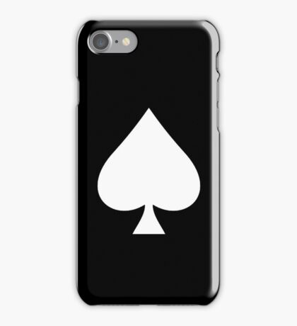 ACE, Ace of Spades, White on Black, Music, Motorbike, Hells Angels, Gang, Cards iPhone Case/Skin