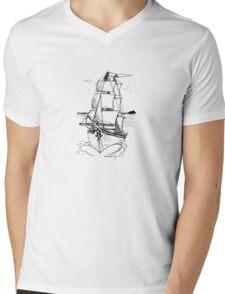 Ship Mens V-Neck T-Shirt
