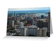 Toronto in Lake Ontario Greeting Card
