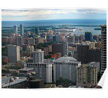 Toronto in Lake Ontario Poster