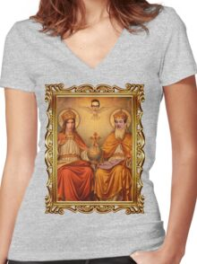 THE UNHOLY TRINITY Women's Fitted V-Neck T-Shirt