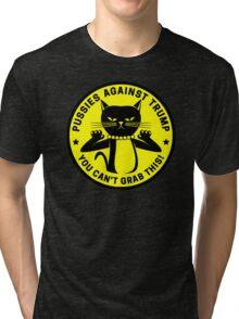 Pussies Against Trump yellow Tri-blend T-Shirt
