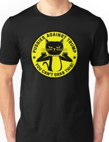 Pussies Against Trump yellow Unisex T-Shirt