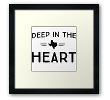 Deep in the Heart Framed Print