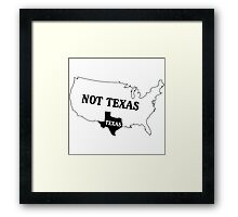 Texas or Not Texas Map of the USA Framed Print
