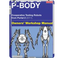 Owners' Manual - ATLAS and P-body - Poster & stickers iPad Case/Skin