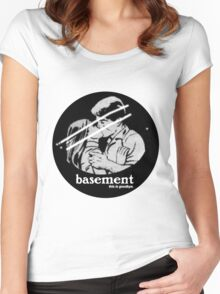 Basement // this is goodbye Women's Fitted Scoop T-Shirt