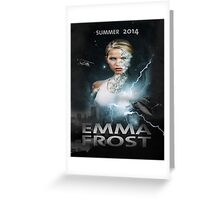 Emma frost Movie poster Greeting Card