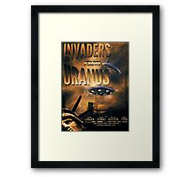 Space invaders from Uranus Framed Print