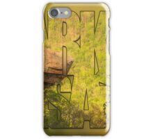 State of Arkansas Typography Blur - Perspective - Whitaker Point Hawksbill Crag iPhone Case/Skin