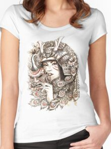 Peacock Samurai Women's Fitted Scoop T-Shirt