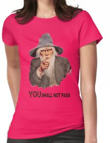 You Shall Not Pass! Womens Fitted T-Shirt