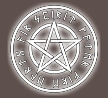 WICCA, White, Pentacle, Pentagram, Witch, Wizard, Modern, Pagan, Witchcraft, Religion, Cult One Piece - Short Sleeve