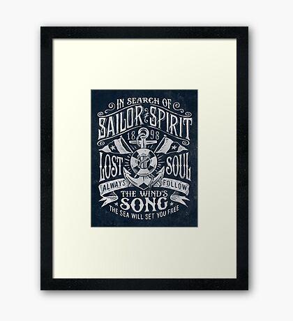Sailor Spirit Framed Print