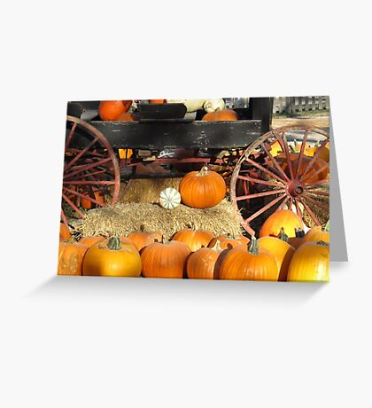 Rustic Pumpkins Greeting Card