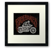 Forever Two Wheels Framed Print