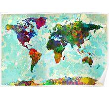 Splatter World Map - 1 Poster
