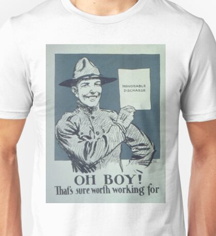 Vintage poster - Honorable Discharge Unisex T-Shirt