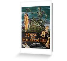 Vintage poster - House on Haunted Hill Greeting Card