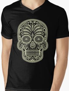 Sugar Skull Mens V-Neck T-Shirt