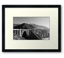 Bixby Creek Bridge Black and White Framed Print