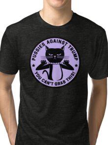 Pussies Against Trump Purple Tri-blend T-Shirt