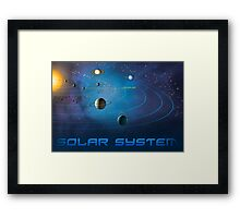 Solar System - You Are Here - Version 1 Framed Print