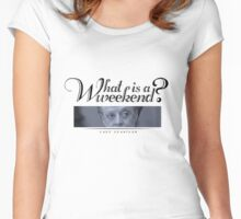 Downton Abbey, Violet, What is a weekend? Women's Fitted Scoop T-Shirt